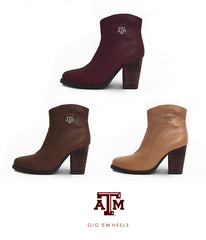 Texas A&M Gig 'Em Heels - Short Boot Collection