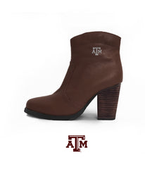 Texas A&M Gig 'Em Heels - Short Boot Brown