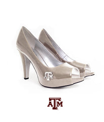 "Texas A&M Gig 'Em Heels - ""The Tradition - Nude"""