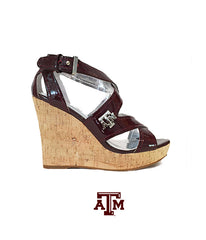 Texas A&M Wedge Heels