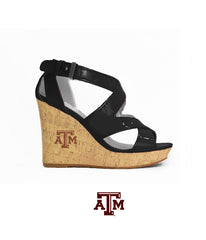 Texas A&M Gig 'Em Heels - 12th Man Wedge (Black)