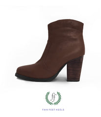Charlie Short Boot - Dark Brown