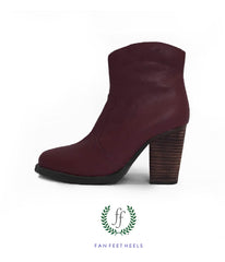 Short Boot - Maroon Swoon