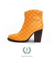 Short Boot - Orange Check Yo Self