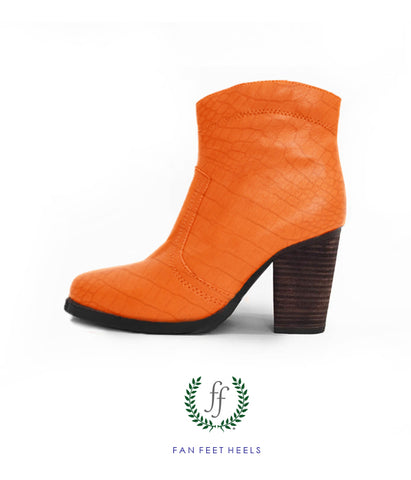 Short Boot- Gator Skin Orange