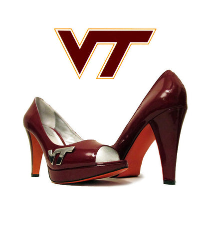"SAMPLE Hokie Heels ""Let's Go Peep Toe"""