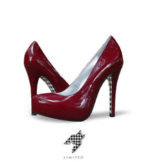 Houndstooth Sole - Crimson - Fan Feet