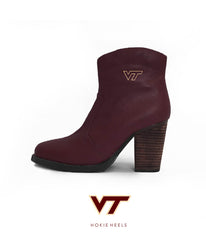 Hokie Heels - The Lane Short Boot (Maroon)
