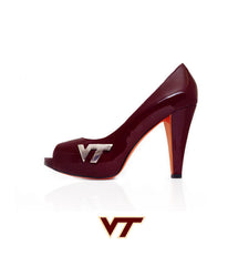 "Hokie Heels ""Let's Go Peep Toe"""