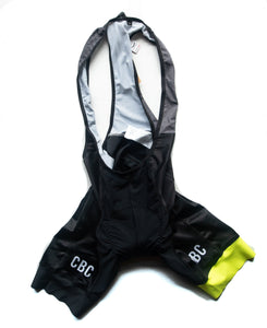 CBC Blackout Bib Shorts Hi-Vis Yellow