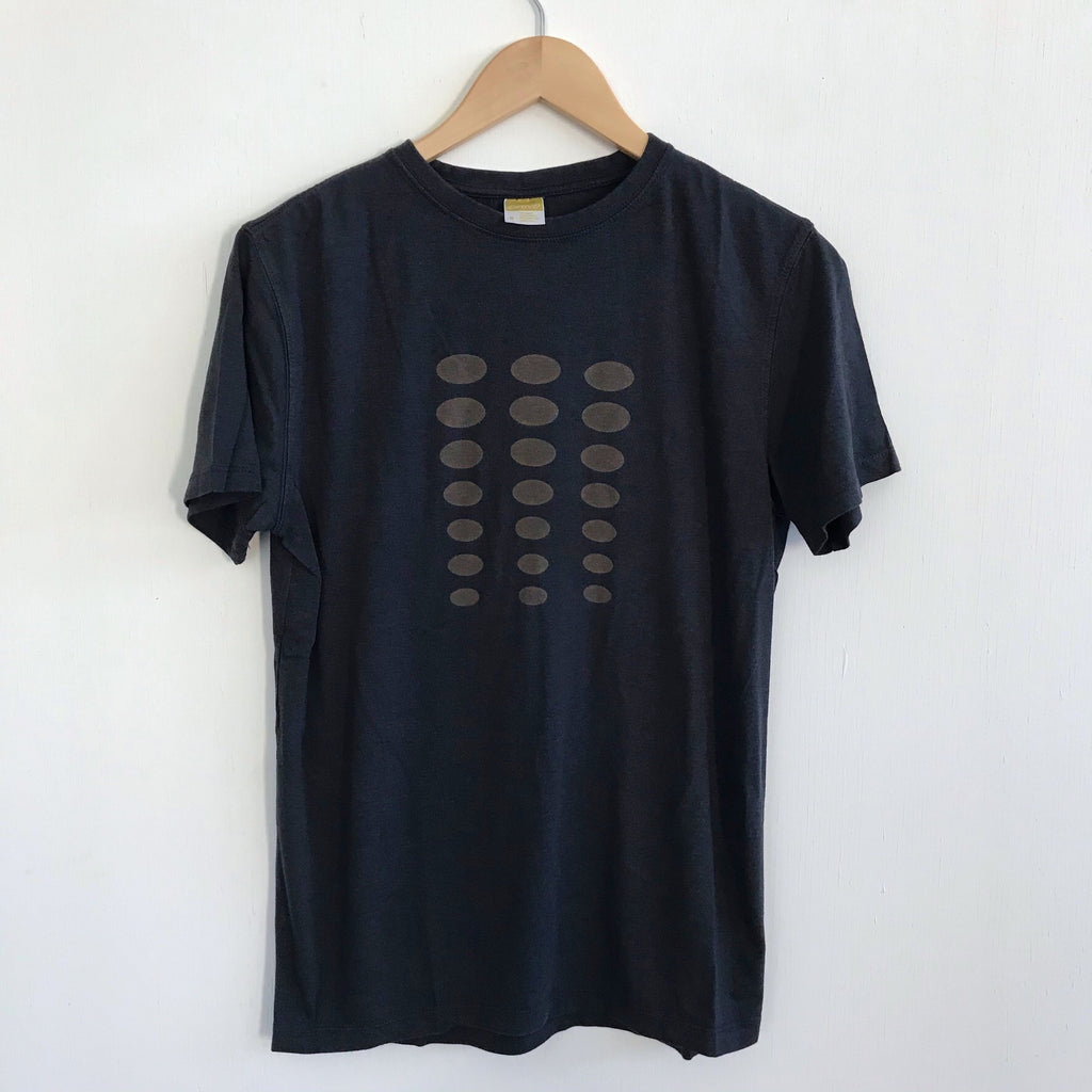 Men Tshirt Bamboo Cotton Ellipse Charcoal Blue