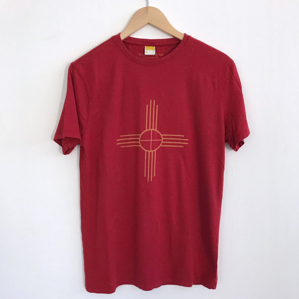 Men Tshirt Bamboo Cotton Zia Red