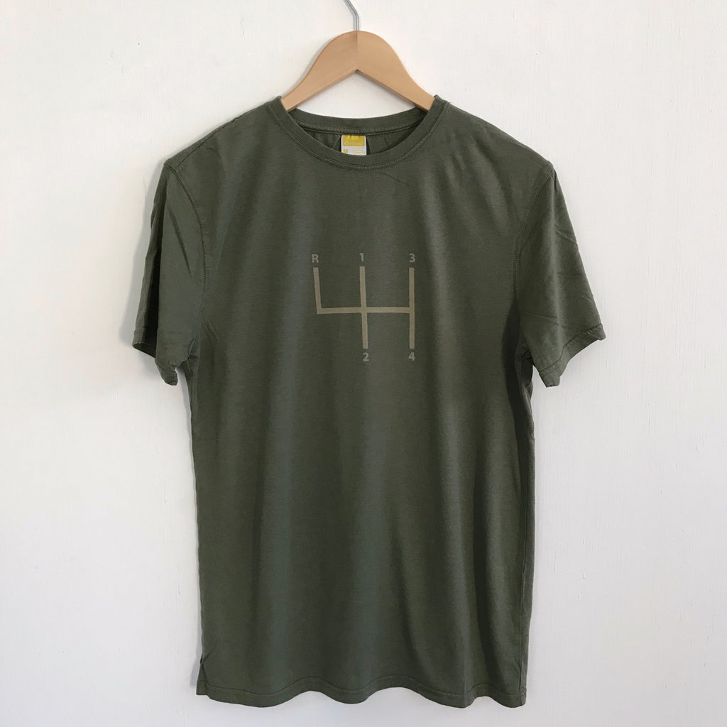 Men's Tshirt Stick Shift Green Tea