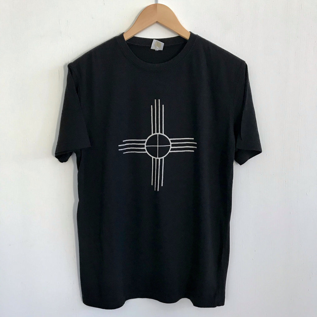 Men Tshirt Bamboo Cotton Zia Black