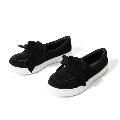 Slip On Bowtie Flat Shoes