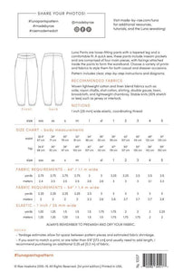Luna Pants Sewing Pattern - Made by Rae