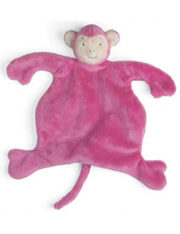 Small Monkey Sleep Lovey (pink)