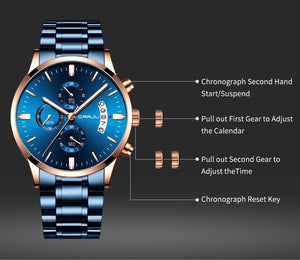Men's Stainless Steel Fashion Watch