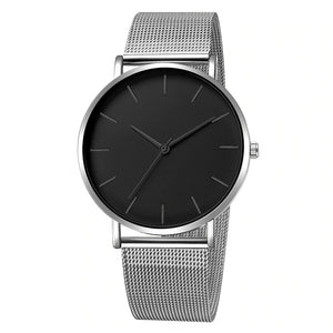 Men's Ultra-Thin Mesh Strap Watch