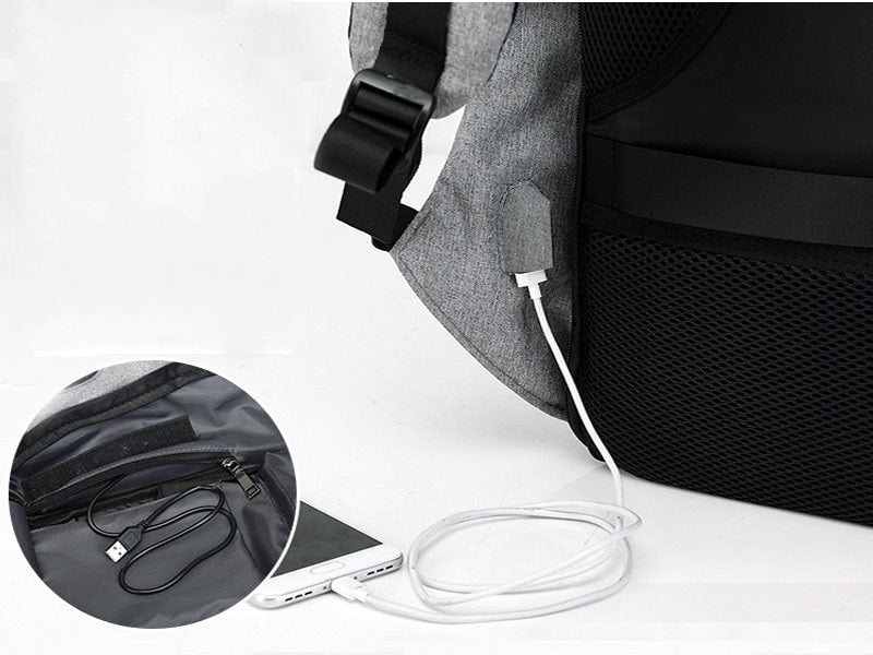 Men's USB Charge Anti-Theft Backpack