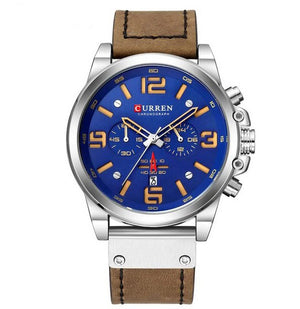 Men's Chronograph Leather Quartz Watch