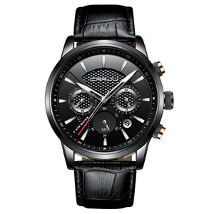Men's Quartz Leather Watch