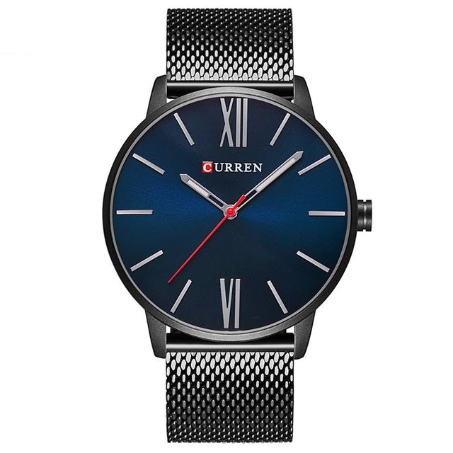 Men's Slim Mesh Strap Watch