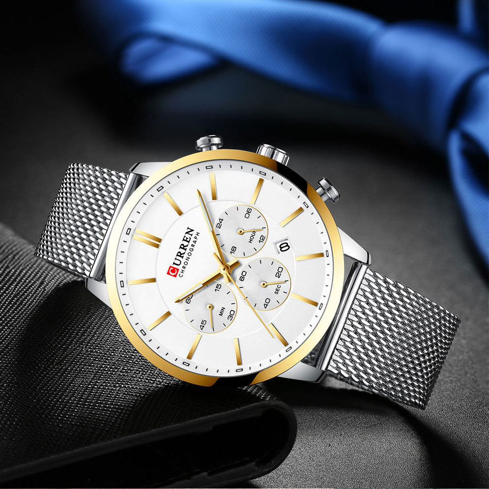 Men's Slim Chronograph Watch