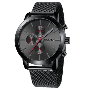 Men's Chronograph Mesh Bracelet Watch