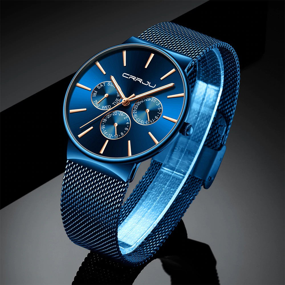 Men's Ultra-Thin Chronograph Watch