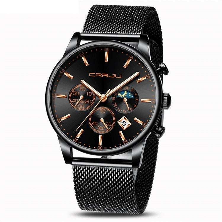 Men's Chronograph Mesh Strap Watch