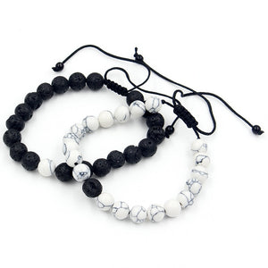Men's Adjustable Beaded Bracelet Set