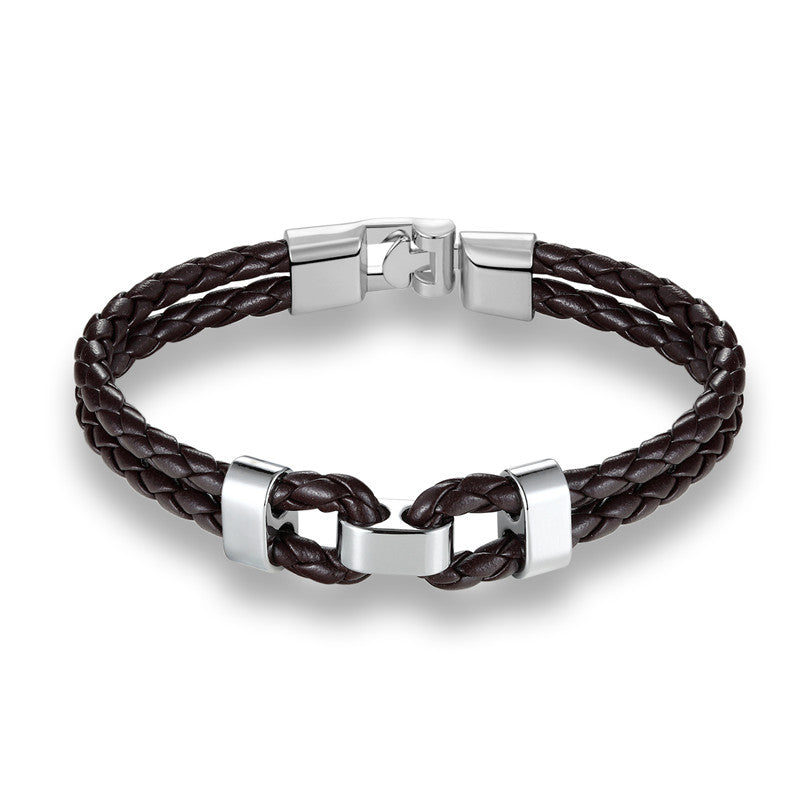 Men's Braided-Steel Bracelet
