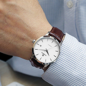 Men's Mechanical Leather Watch