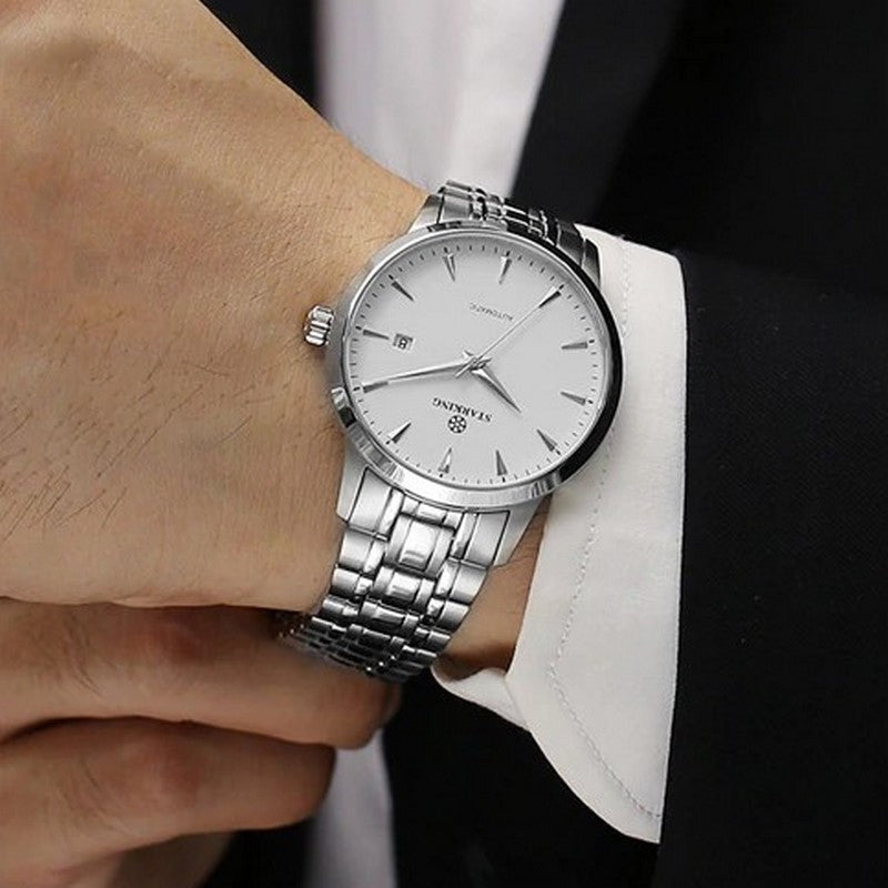 Men's Mechanical Stainless Steel Watch