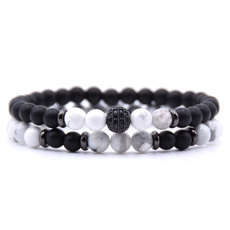 Men's Crystal-Beaded Bracelet Set