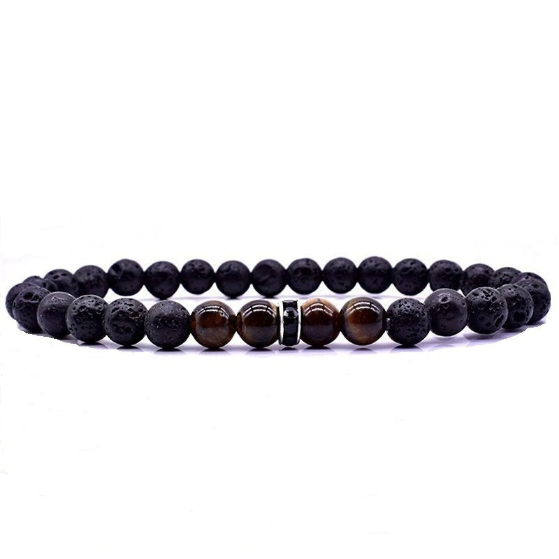 Men's Lava Stone Beaded Bracelet