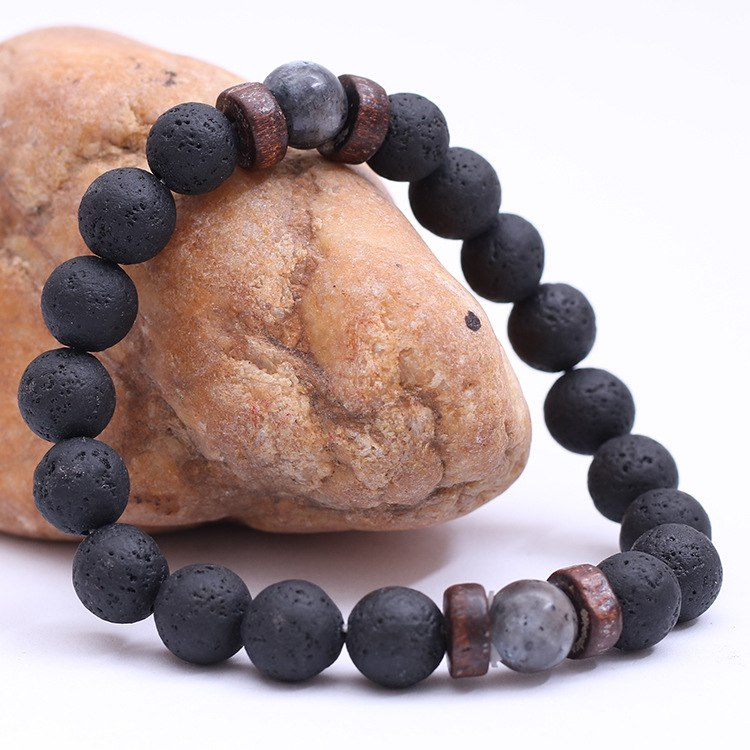 Men's Chakra Natural Stone Beaded Bracelet