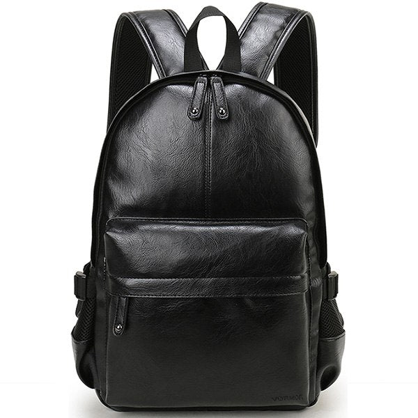 Men's Leather Laptop Backpack