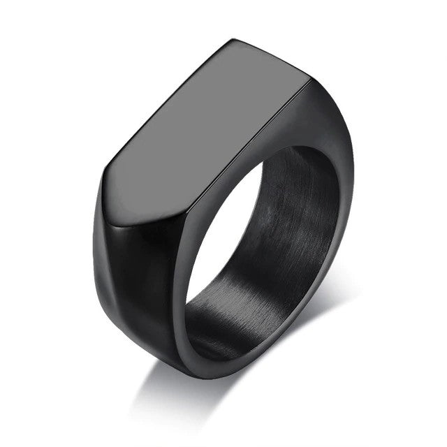 Men's Simple Flat Ring