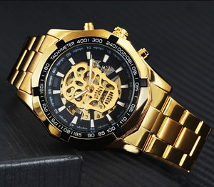 Men's Steampunk Skull Metal Watch