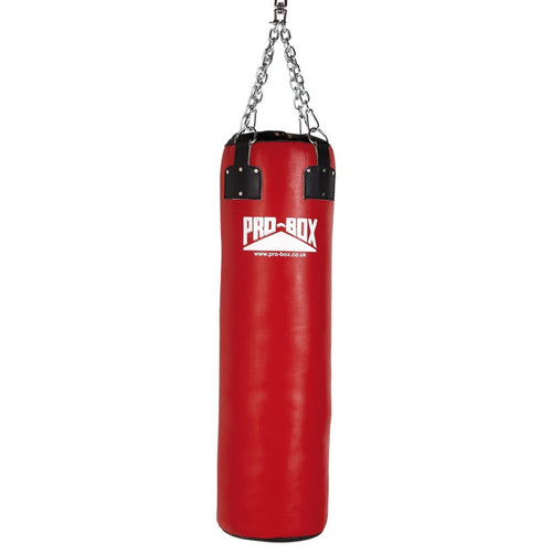 PRO BOX RED LEATHER SUPER HEAVY 4FT PUNCH BAG | CLICK & COLLECT ONLY