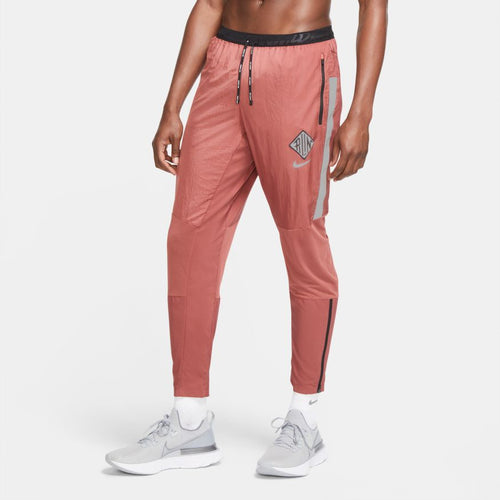 NIKE MENS PHENOM ELITE WILD RUN RUNNING PANTS | CLAYSTONE RED