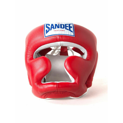 SANDEE CLOSED HEAD GUARD  RED & WHITE