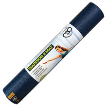 Load image into Gallery viewer, Warrior Yoga II Mat Dark Blue 4mm