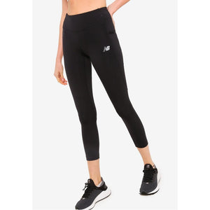 NEW BALANCE WOMENS IMPACT RUN MESH TIGHTS | BLACK