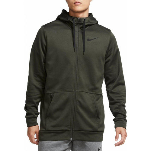 NIKE MENS THERMA FULL ZIP TRAINING HD | SEQUOIA