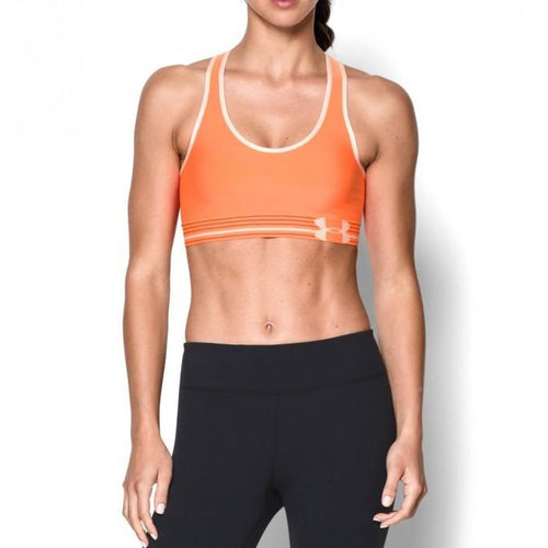 UNDER ARMOUR WOMENS SPORTS MID BRA | ORANGE