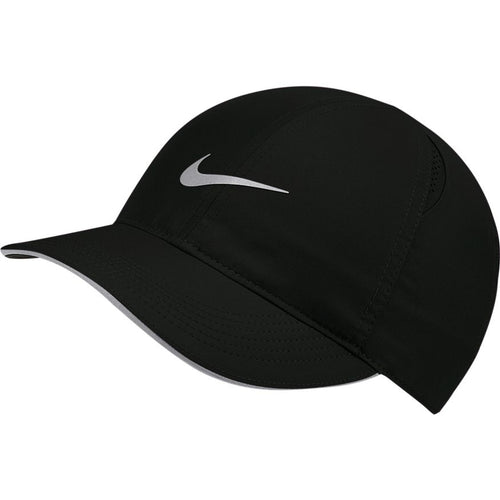 NIKE WOMENS DRI-FIT AEROBILL FEATHERLIGHT RUNNING CAP | BLACK