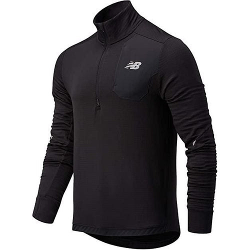 NEW BALANCE MENS IMPACT GRID HALF ZIP | BLACK